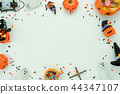 Table top view decoration Happy Halloween day. 44347107