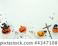 Table top view decoration Happy Halloween day. 44347108