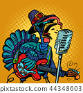 Thanksgiving Turkey character singer. Holiday party 44348603