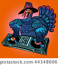 Thanksgiving Turkey character. DJ at the holiday party 44348606