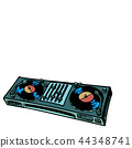 DJ turntable, music console. isolate on white background 44348741