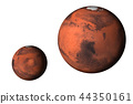 Planet Mars small and large Isolated 44350161