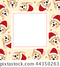 Corgi Santa Claus on Beige Ivory Banner Card 44350263