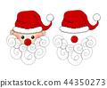 Santa Claus, Santa Hat, Red Nose and White Beard 44350273