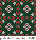 Christmas knitted pattern. 44351609
