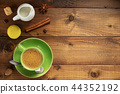 cup of coffee and ingredients 44352192
