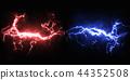 鮮豔細緻的雷雨閃電特寫材質紋理背景,正視圖(高分辨率 3D CG 渲染∕著色插圖) 44352508