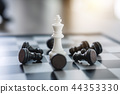 Chess leadership and success concept, chess save the strategy an 44353330