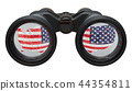 Espionage in the USA concept, 3D rendering 44354811