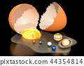 Birth of the Universe from egg concept 44354814