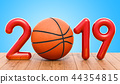 Basketball 2019 concept on the wooden table 44354815