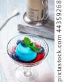 Blueberry panna cotta 44359268