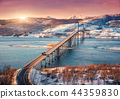 Bridge during sunset in Lofoten islands, Norway 44359830