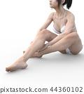 Female skin care image Leg legs perming3DCG Illustration material 44360102
