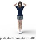 一個年輕成年女性 女生 女孩 44360401