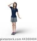 一個年輕成年女性 女生 女孩 44360404