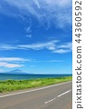 แนวฮอกไกโดโอโรรอนของท้องฟ้าสีฟ้า 44360592