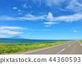 แนวฮอกไกโดโอโรรอนของท้องฟ้าสีฟ้า 44360593