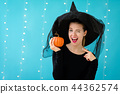 woman, pumpkin, pumpkins 44362574