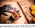 Happy Halloween. Werewolf or zombie hands 44362578