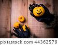Happy Halloween. Werewolf or zombie hands  44362579