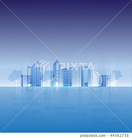 Rays light urban city design abstract background 44362738