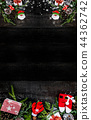 Merry Christmas and Happy New Year background 44362742