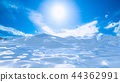 Water sunlight and blue sky background 44362991