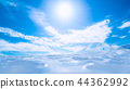 Water sunlight and blue sky background 44362992