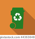bin with recycle symbol 44363648