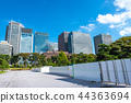 도쿄의 빌딩 군 도시 풍경 44363694