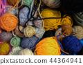 knitting yarn ball. handmade handicraft embroidery accessory 44364941