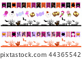 萬聖節 用儀器畫的線 印有格的 44365542