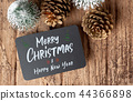 Merry Christmas and happy new year on blackboard 44366898