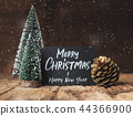 Merry Christmas and happy new year on blackboard 44366900