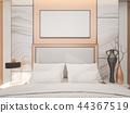 Interior of luxury master bedroom , 3d rendering 44367519