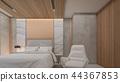 Copper Wall Decor in luxury bedroom , 3d rendering 44367853
