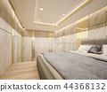 King bed is placed in luxury bedroom ,3d Rendering 44368132