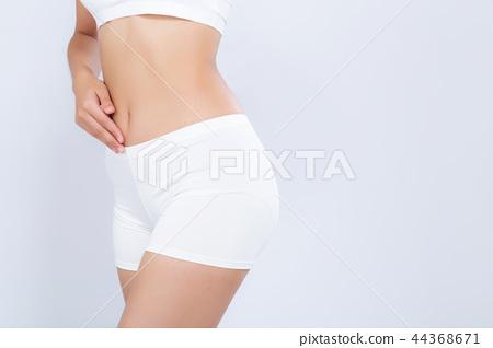 Closeup asian woman beautiful body diet 44368671