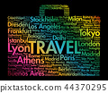 Suitcase travel concept made with words 44370295