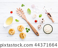 Ingredients for homemade pasta . 44371664