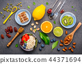 Ingredients for the healthy foods background . 44371694