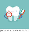 Smiling Tooth with toothpaste for good healthy 44372542