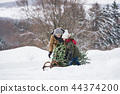 winter, snow, sledge 44374200