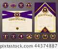 certificate, vector, frame 44374887