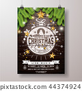 christmas, party, poster 44374924