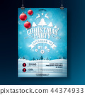 christmas, party, poster 44374933