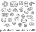麵包房 麵包師 摳圖 44375506