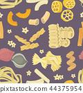 Vector illustration Italian pasta food set pattern 44375954