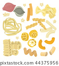 pasta illustration farfalle 44375956